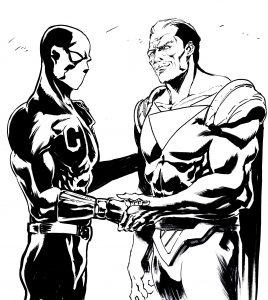 Calibro e Captain Amazing tagliata.